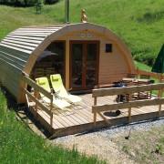 Holz-Igloo Fuchs mit Terrasse