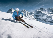Skifahrer Interlaken