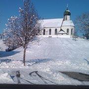 Kirche im Winter in Rückholz