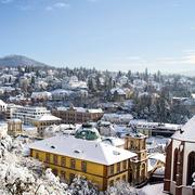 Wetter Winter Stadtansicht