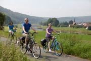 Radler auf dem Weserradweg