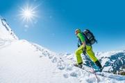 Skitourengehen bei traumhaftem Wetter