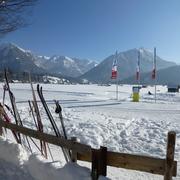 herrliche Wintertage auf der Loipe rund um Oberstdorf in die Täler